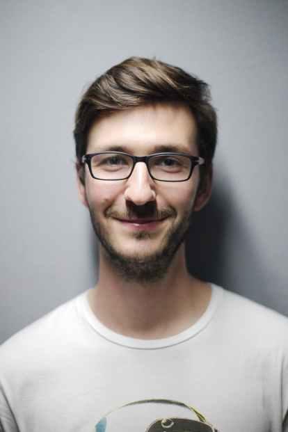 adult beard boy casual