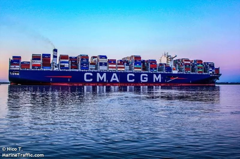 CMA CGM Antoine De Saint Exupery sails under the flagship of France. She was built in 2018 and biggest french flagged container ship. Ship operate under CMA CGM and currectly the 5th largest container ship in the world. Her maximum speed reported as 23.7 knots. She was named after the pioneer of the Aéropostale, the writer and the poet, known for his values of humanism and responsibility. Vessel operate under CMA CGM group with a carrying capacity of 20,9654 TEUs. Vessel has specially designed to reduce its CO2 emmision and increase the efficieny of fuel usage.vessel dimension LOA: 400 m, Breadth: 59 m.CMA CGM ANTOINE DE SAINT EXUPERY entered into service on February 6th on the FAL 1 service (French Asia Line 1), the longest sea route in the world connecting Asia and Northern Europe. Dailylogistic.com, daily logistic, dailylogistics, daily logistics