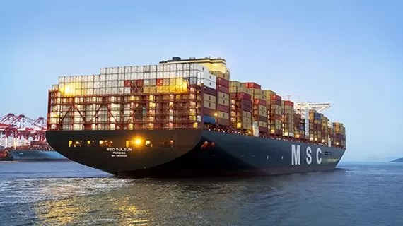 MSC Gulsan was the world largest container ship until the HMM Algesira was build. MSC (Mediterranean Shipping Company) added 10 gulsan class vessels to its fleet followed by MSC Gulsan. Vessels in Gulsan class are: MSC Samar, MSC Isabella, MSC Mia, MSC Leni, MSC Arina, MSC Febe, MSC Nela, MSC Mina, MSC Sixin and MSC Ambra. The MSC Gulsan vessel is Panama registered with a carrying capacity of 23,756 TEUs. The vessel delived in July 2019 and production of Samsung Heavy Industries in South Korea.  Vessel Dimension LOA: 399.9 m, Breadth: 61.5 m, Depth: 33.2 m Further vessel has 2,024 FEU capacity to carry refrigerated containers. dailylogistic.com, daily logistic, dailylogistics, daily logistics