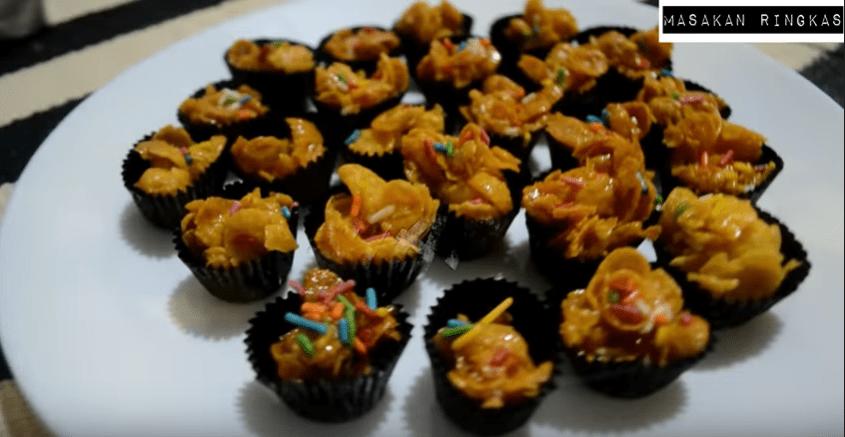 resepi biskut cornflakes madu