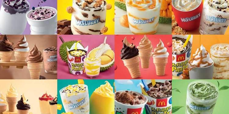 Aiskrim Yang Pernah Dikeluarkan Oleh McDonald's