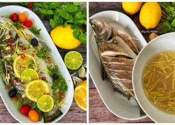 resepi ikan siakap stim lemon