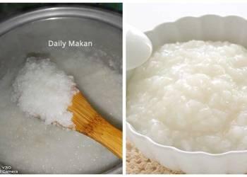 cara cepat masak bubur nasi
