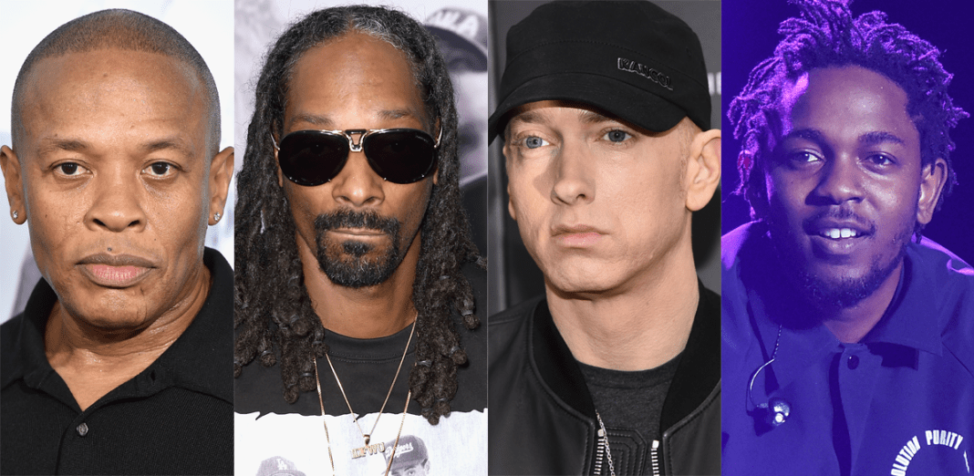 California icons Dr. Dre, Snoop Dogg and Kendrick Lamar along with Mary J. Blige and Eminem will perform at the Super Bowl halftime show in February 2022, the National Football League announced