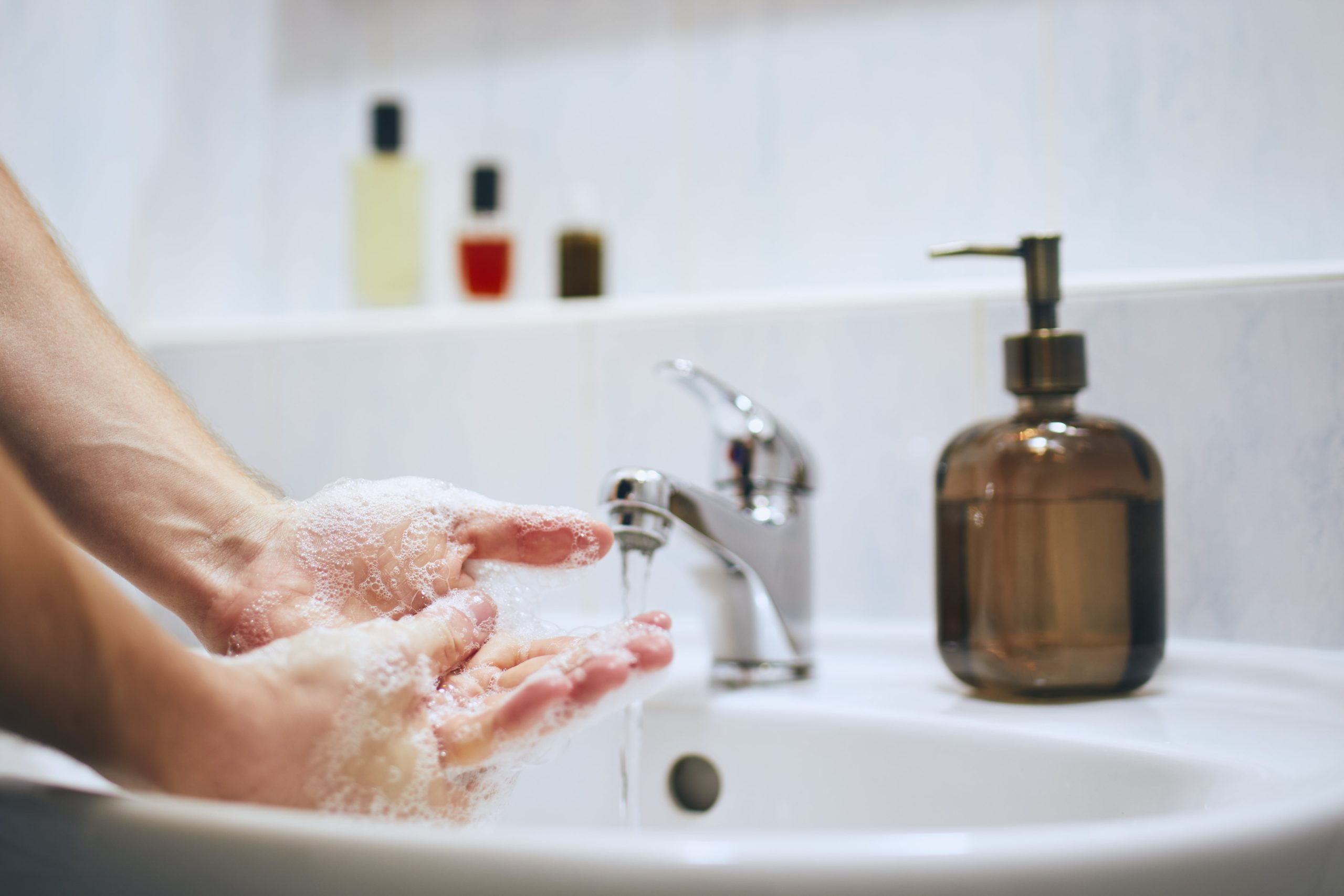 Wash hands image