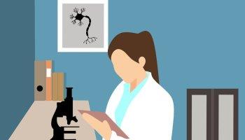 pathologist studies pathology
