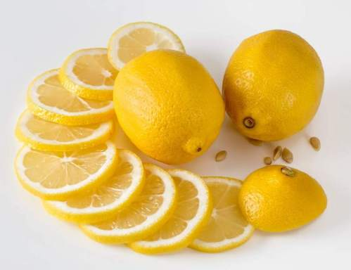 Picture shows sliced and whole lemons