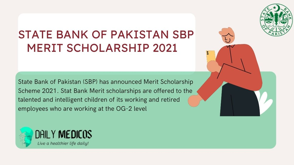 State Bank of Pakistan SBP Merit Scholarship 2021 1 - Daily Medicos