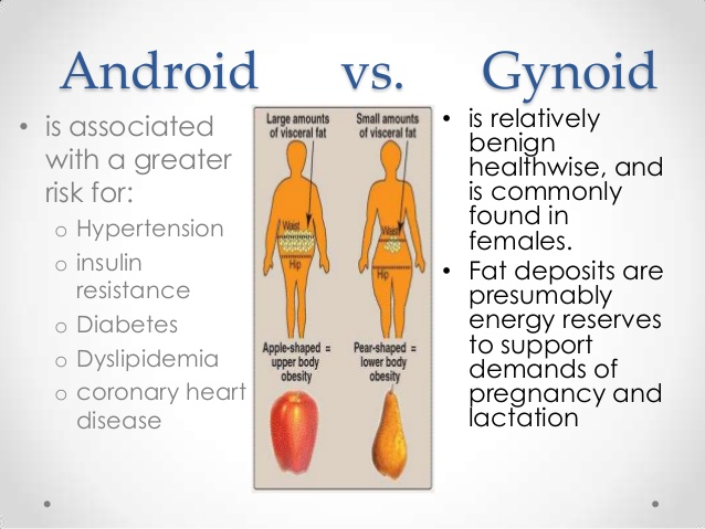 Gynoid vs Android Obesity: causes, health risks, and treatment. 6 - Daily Medicos