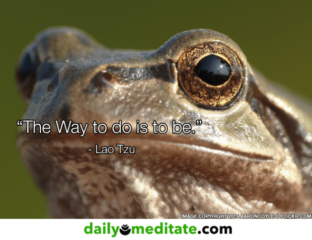 """""""The Way to do is to be.""""  – Lao Tzu"""
