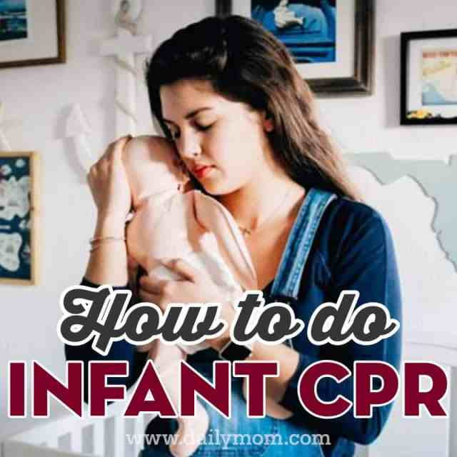 how to do infant cpr