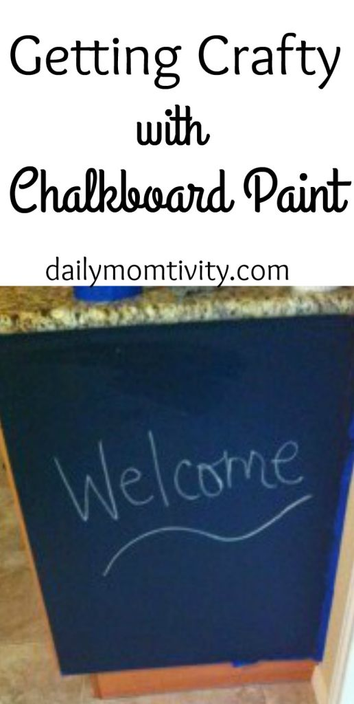Chalk board paint is a quick fix to any wall or cabinet to have you chalkboard ready.