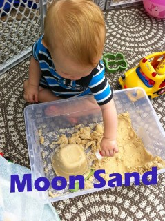 Moon Sand is so easy to make and will keep kids busy for hours!