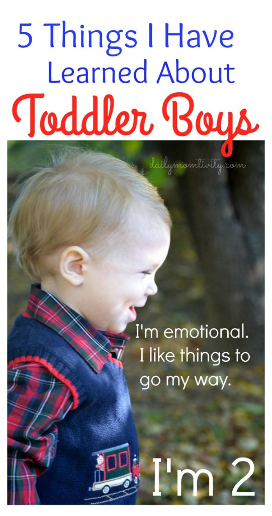 5 Things I Have Learned about Toddler Boys