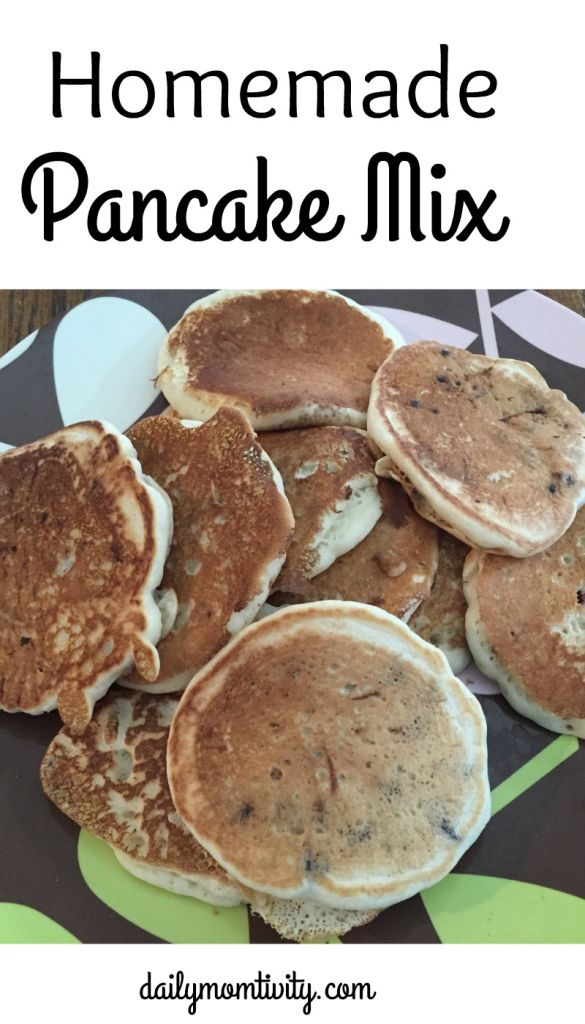 homemade pancake mix is perfect to make ahead and have on hand when you want some delicious, fluffy pancakes https://dailymomtivity.com