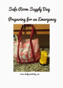Preparing for an Emergency {Safe room supplies}