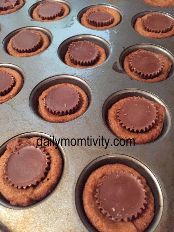 PB cup cookies mini muffin tin