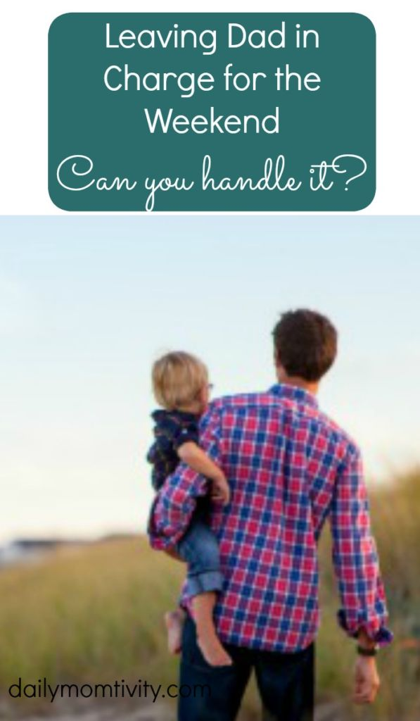 Give yourself a break and let your kids stay at home for the weekend with their dad. Can you handle it? https://dailymomtivity.com