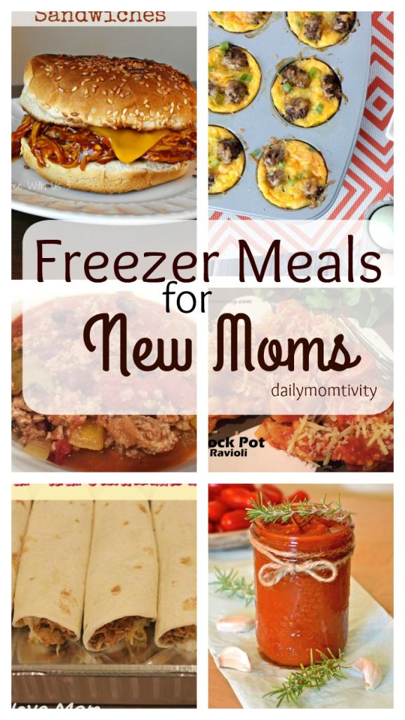 Perfect freezer meals for new mommies, all Mom approved!