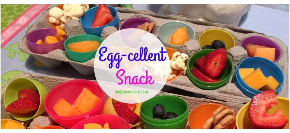 A Fun Easter Egg Snack Idea {Using Plastic Easter Eggs}
