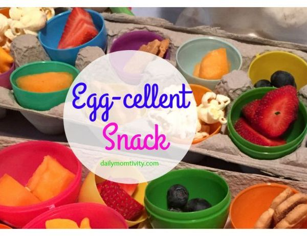A Fun Easter Egg Snack Idea {Using Plastic Easter Eggs}