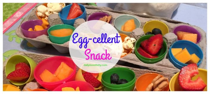 An easy snack that is lots of fun for kids using leftover plastic eggs