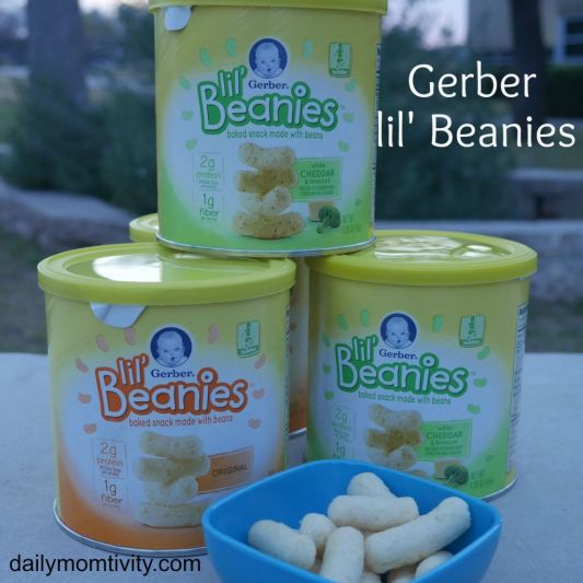 Gerber lil'beanies make the best toddler snacks! Great tasting and full of protein thanks to the navy beans #gerberlilbeanies #ad