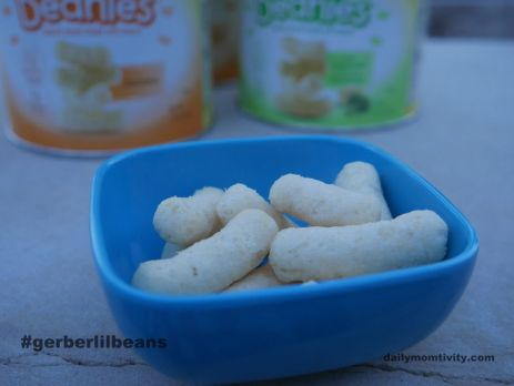 Gerber lil'beanies make great toddler snacks