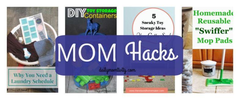 Mom Hacks, tips for making life easier for Moms http://dailymomtivity.com