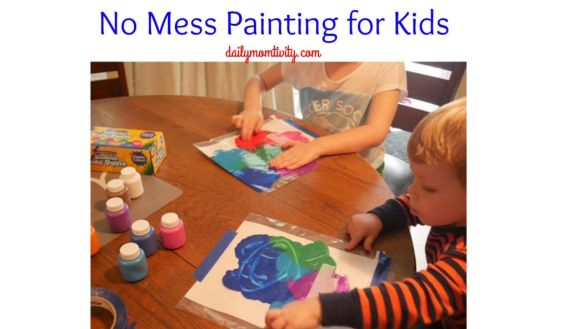 Kids can paint and parents can have no worries for a big mess!