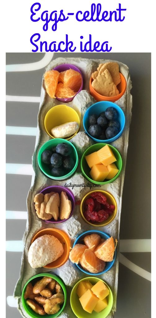 Check out this fun Easter Snack Idea for Kids. Put your plastic eggs to good use. They will love it and you can clean out your pantry https://dailymomtivity.com