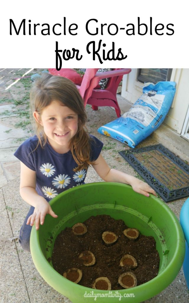 Make a fun family day and plant miracle gro-ables with your kids! #spon