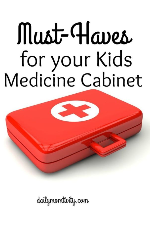 Have kids? Then you need to have a stocked medicine cabinet with these essentials! http://dailymomtivity.com
