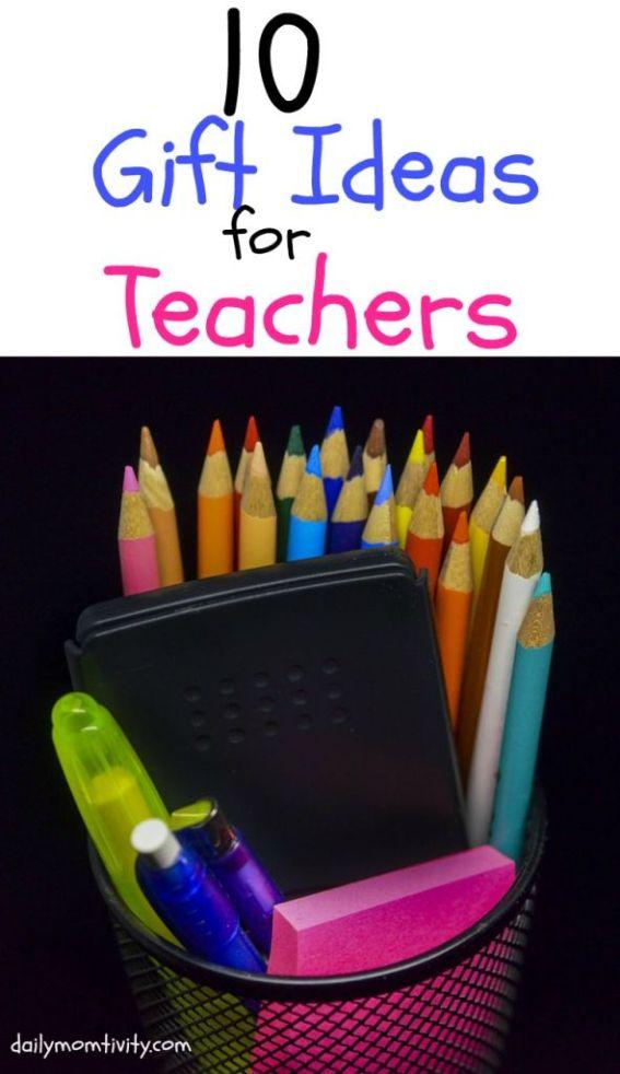 10 Teacher Gift Ideas for your favorite teachers! Get the best ideas here http://dailymomtivity.com