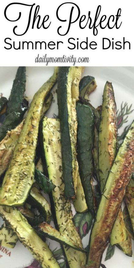 Roasted dill veggies, the perfect summer side dish to any summer meal https://dailymomtivity.com