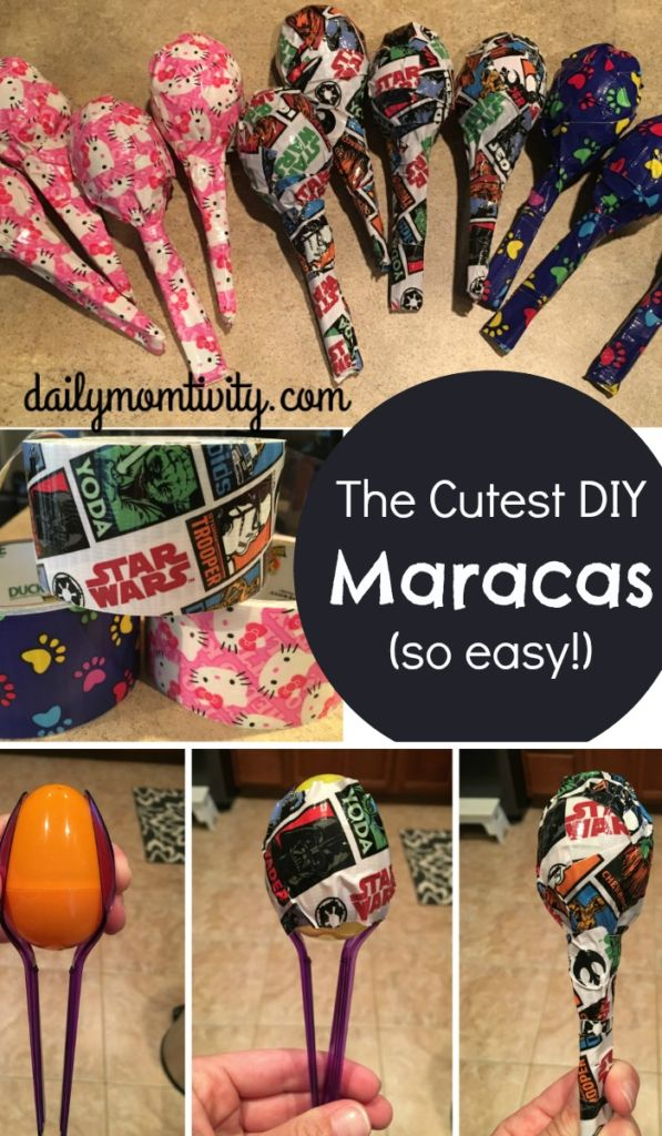 DIY maracas for kids that are so easy to make! Perfect idea for a school store https://dailymomtivity.com