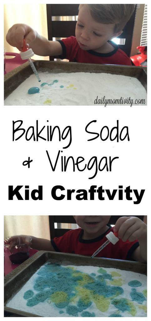 A fun kid craftivity with baking soda and vinegar, kids will love it! https://dailymomtivity.com