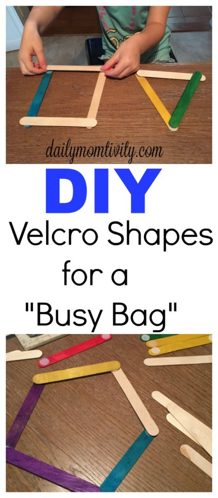 DIY Velcro shapes perfect for a busy bag #MottsMovieBonus #CB #ad