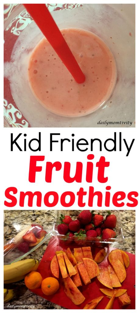 Kid Friendly fruit smoothie ideas, perfect for breakfast or a tasty snack