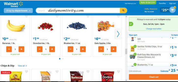 Walmart Grocery - Online Grocery Pickup & Delivery - Mozilla Firefox 7232016 102705 AM