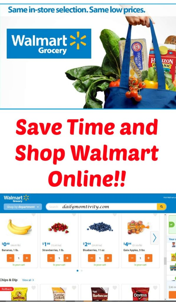 Save Time and Shop Walmart's Online Grocery service!