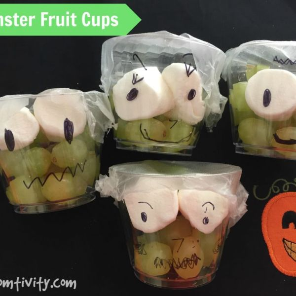 Monster Fruit Cups {A Healthy and Fun Halloween Treat for Kids}