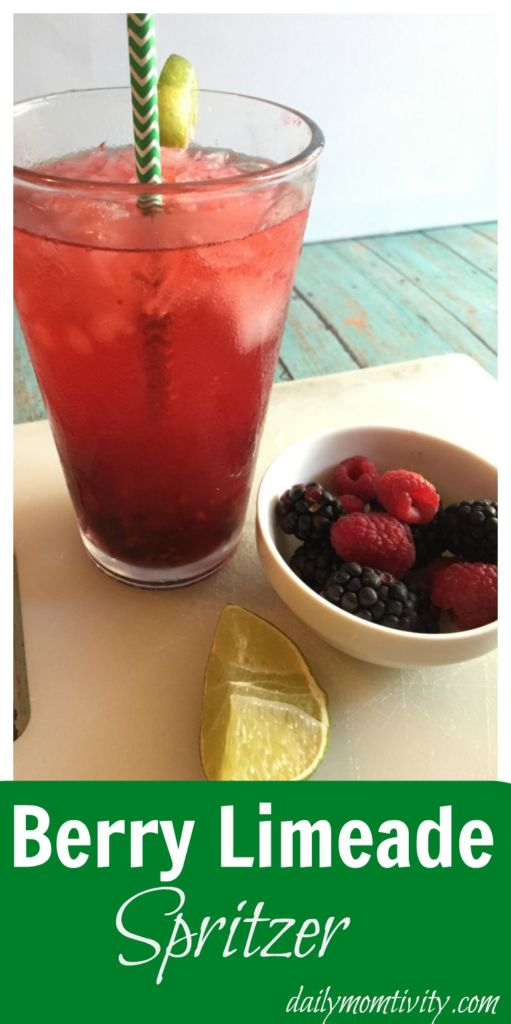 Try this yummy Berry Limeade Spritzer, perfect for your holiday party #NewWayToSparkle #ad