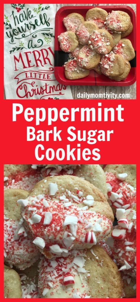 These are perfect cookies for your holiday- Peppermint Bark Sugar Cookies #BakeWithBetty #ad