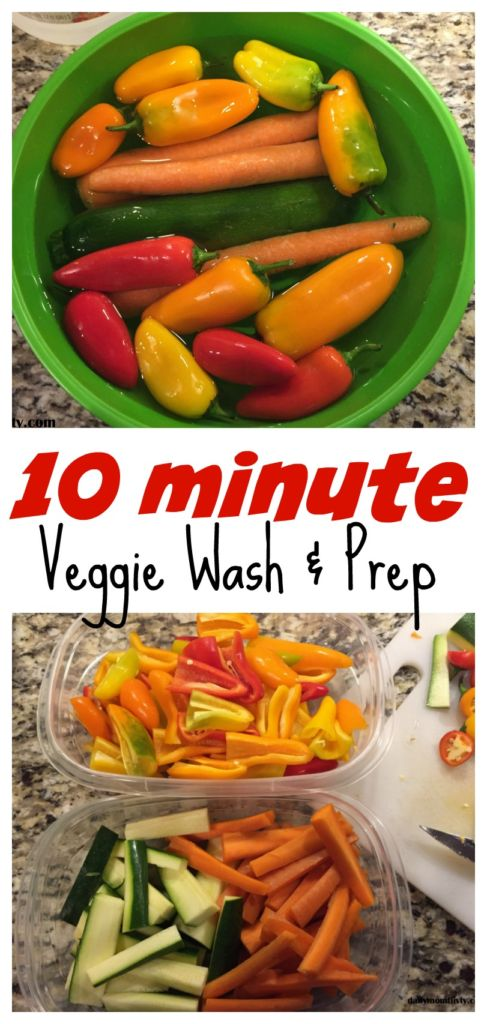 In just 10 minutes you can wash and prep your veggies for the entire week. Super easy and gets them super clean! #MyWaytoVeg #ad