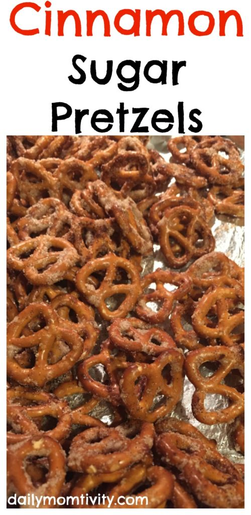 The perfect salty and sweet snack, cinnamon sugar pretzels