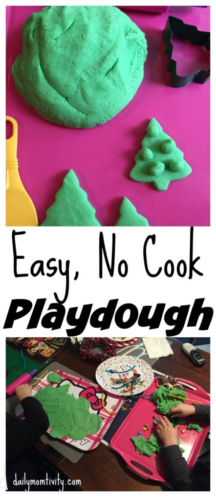 No cook playdough- ready in 5 minutes!