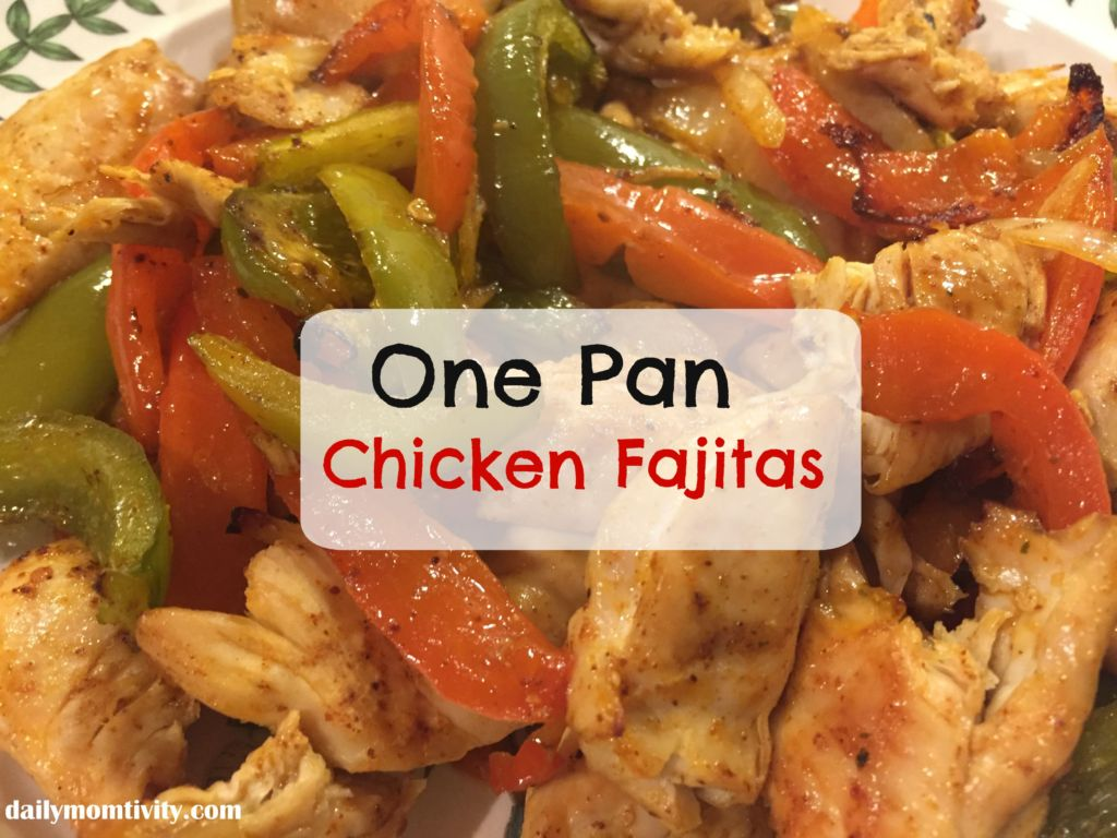 One pan chicken fajitas