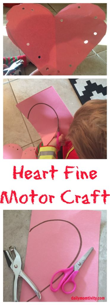 Fine motor craft for toddlers, cutting and hole punching practice