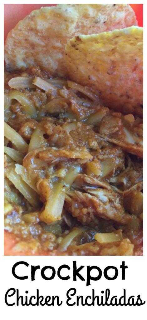 Crockpot Chicken Enchiladas